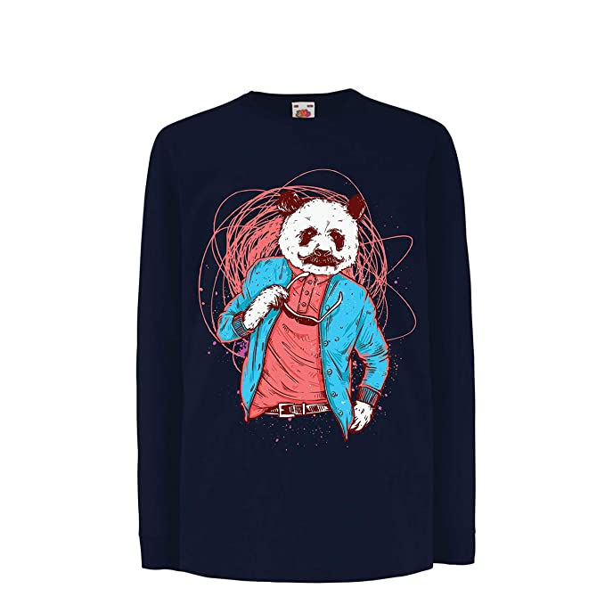 lepni.me Camiseta para Niño/Niña Panda Moderna, Ropa Urbana, Graciosa gráfica