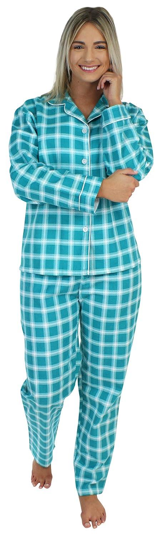 TALLA S (6-8). PajamaMania - Pijama para Mujer - Ropa de Dormir para Mujer- Conjunto de Pijama de Franela de Manga Larga