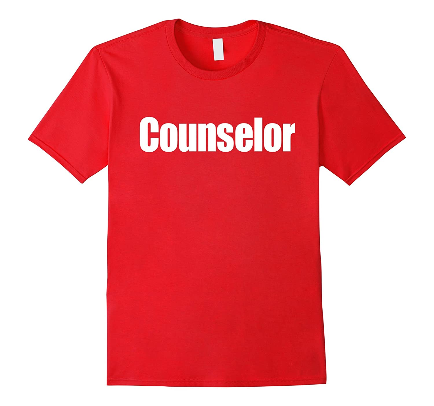 Counselor T-Shirt in white text-TJ