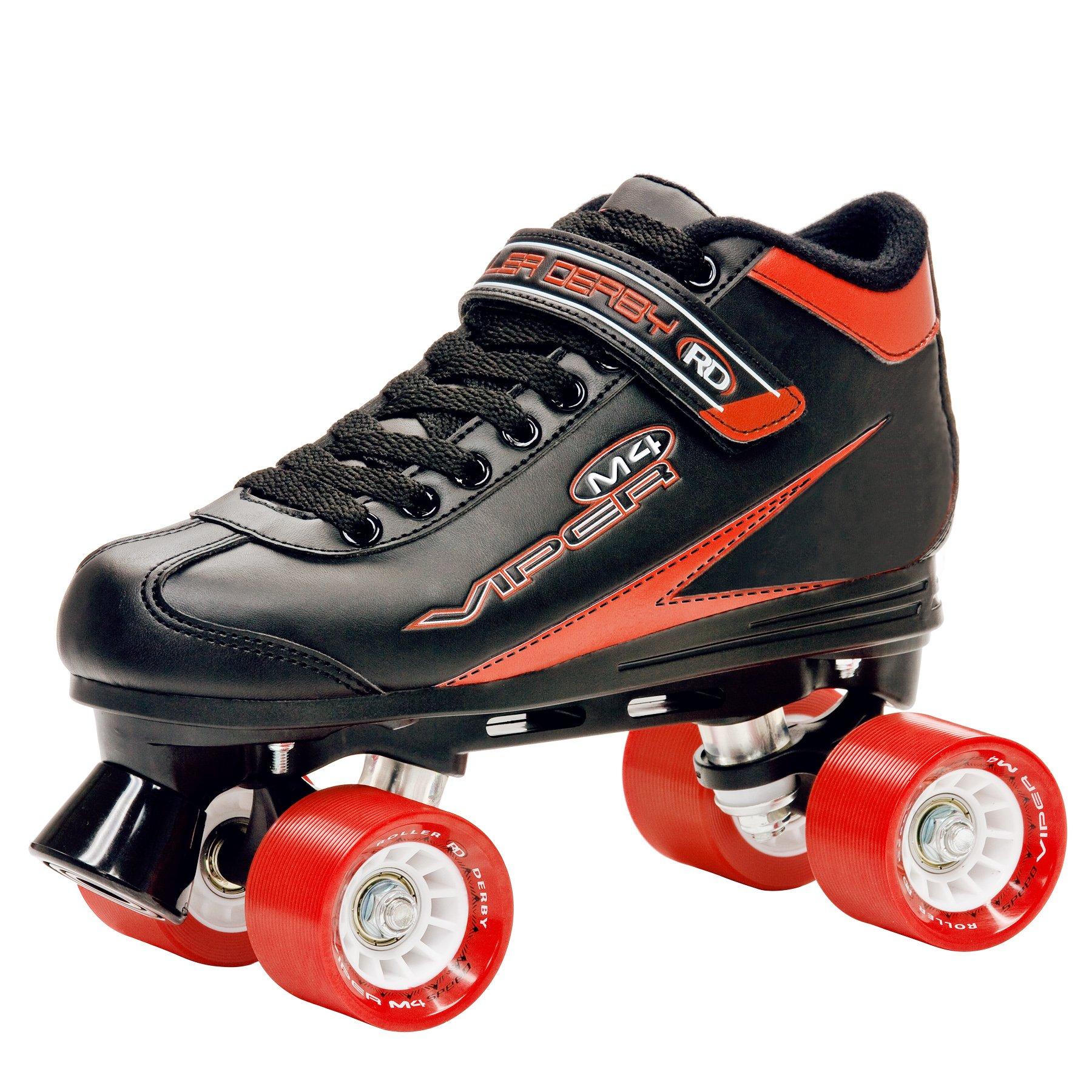Roller Derby Men's Viper M4 Speed Quad Skate, Size 08