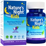 Nature's Night Kids Plant-Based Melatonin, Natural Grape Flavored, 60 Chewable Tablets, Gluten Free, Non-GMO, Drug Free, Vega
