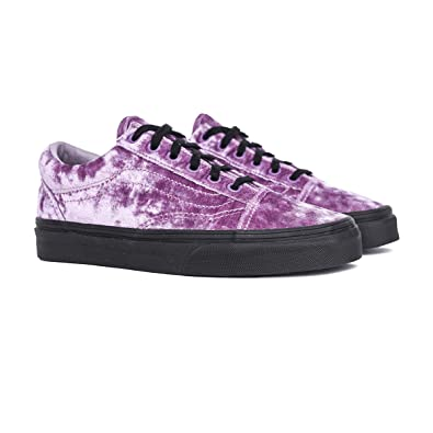 d3fb4de8999 Image Unavailable. Image not available for. Color  Vans Old Skool Velvet  Sea Fog ...