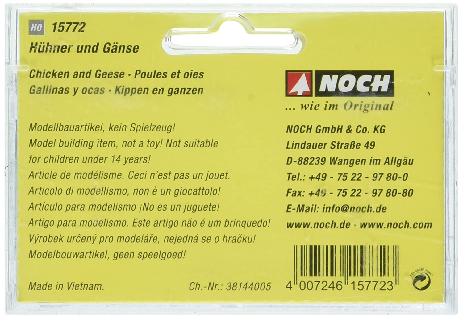 Noch 15772 Chickens /& Geese 17// H0 Scale  Figures
