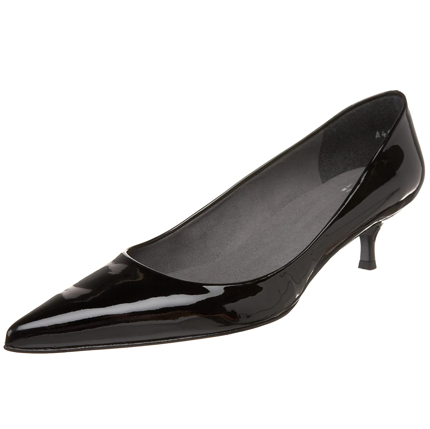 Stuart Weitzman Women's Poco Dress Pump B0031573R4 11 W US|Black Patent