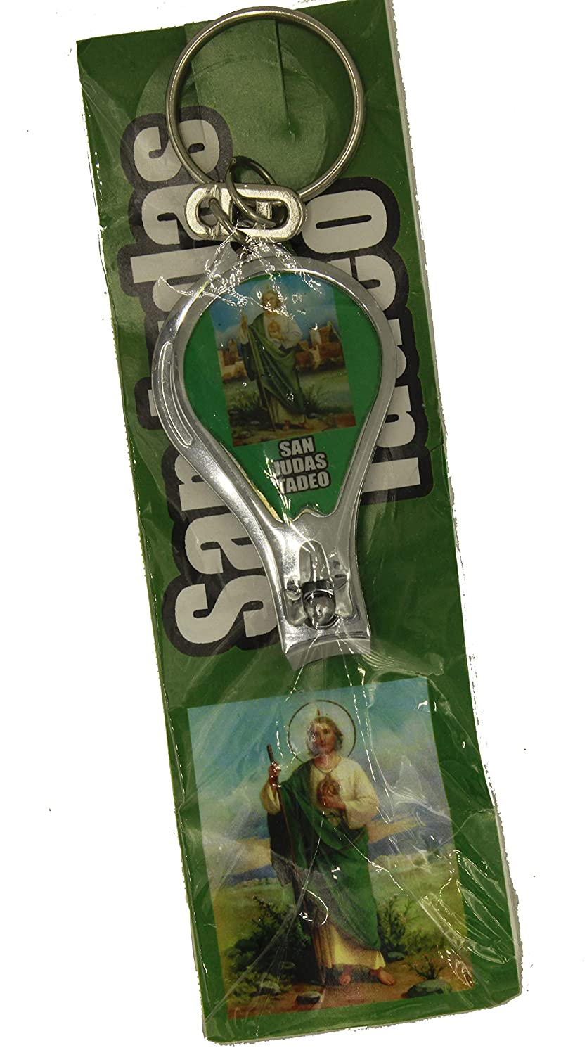 Amazon.com : St Jude Thaddeus Mexico Key Chain Nail Clipper ...