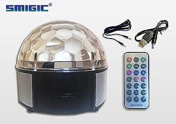 SMIGIC 9 Color Stage Lights LED DJ Disco Lights Party Rotating Crystal Magic Ball Lights Sound & SMIGIC 9 Color Stage Lights LED DJ Disco Lights Party Rotating ... azcodes.com