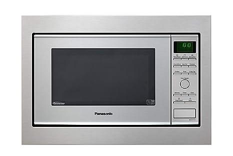 Panasonic NN-CF771 - Microondas Horno con Grill Combinado encastrable (1000 W, 27 L, 6 niveles, Inverter, Grill 1300 W, 100-250ºC, 19 modos, Base ...