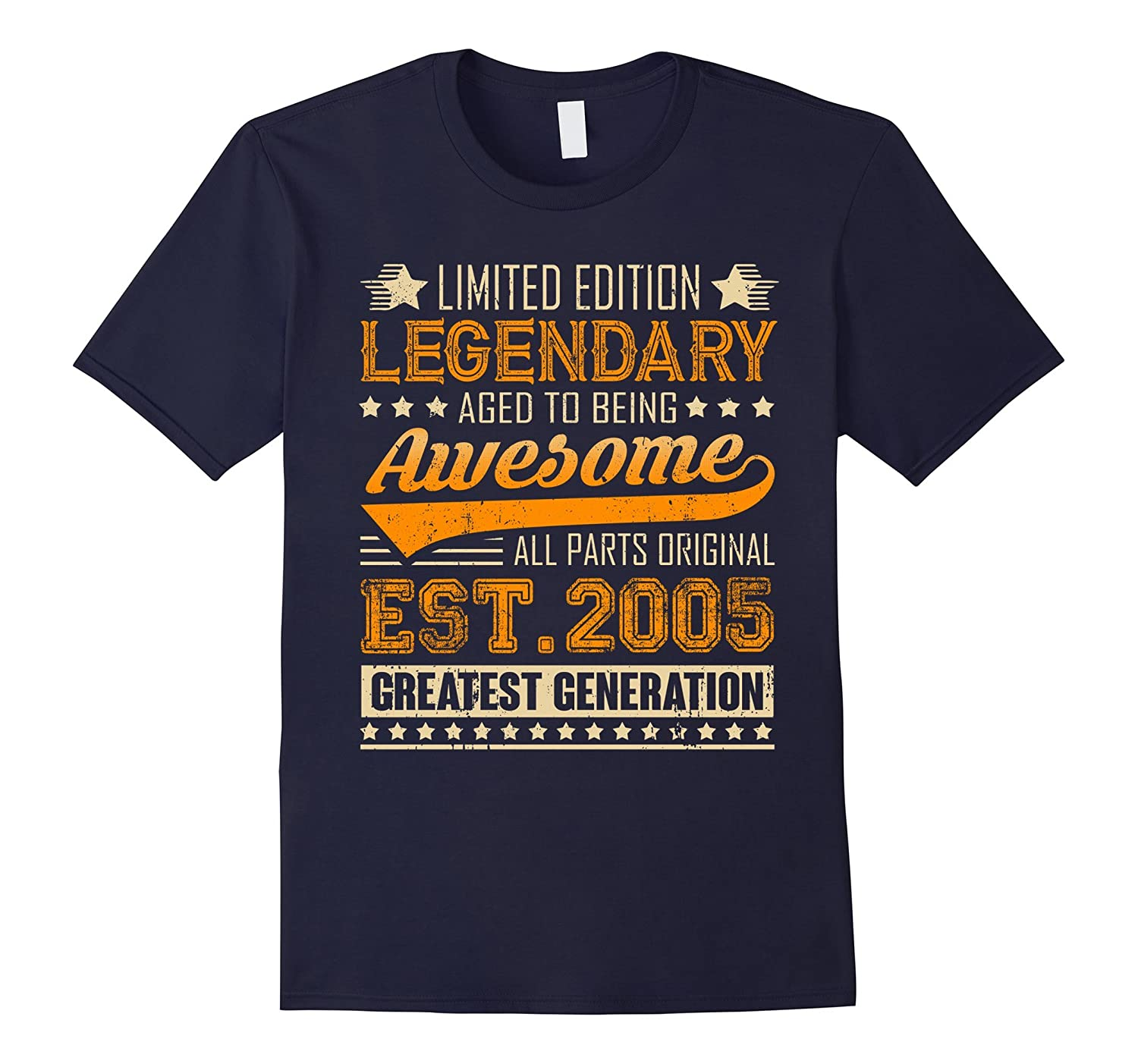 Legendary Born in 2005 12th Birthday T-Shirt 12 Years Old-TJ