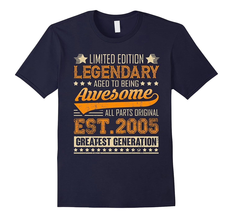 Legendary Born in 2005 12th Birthday T-Shirt 12 Years Old-TJ