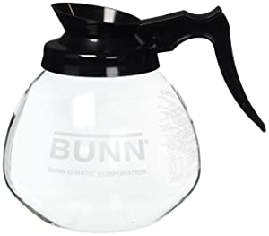 BUNN 12 Cup Standard Decanter Coffee Pot, Clear/Black