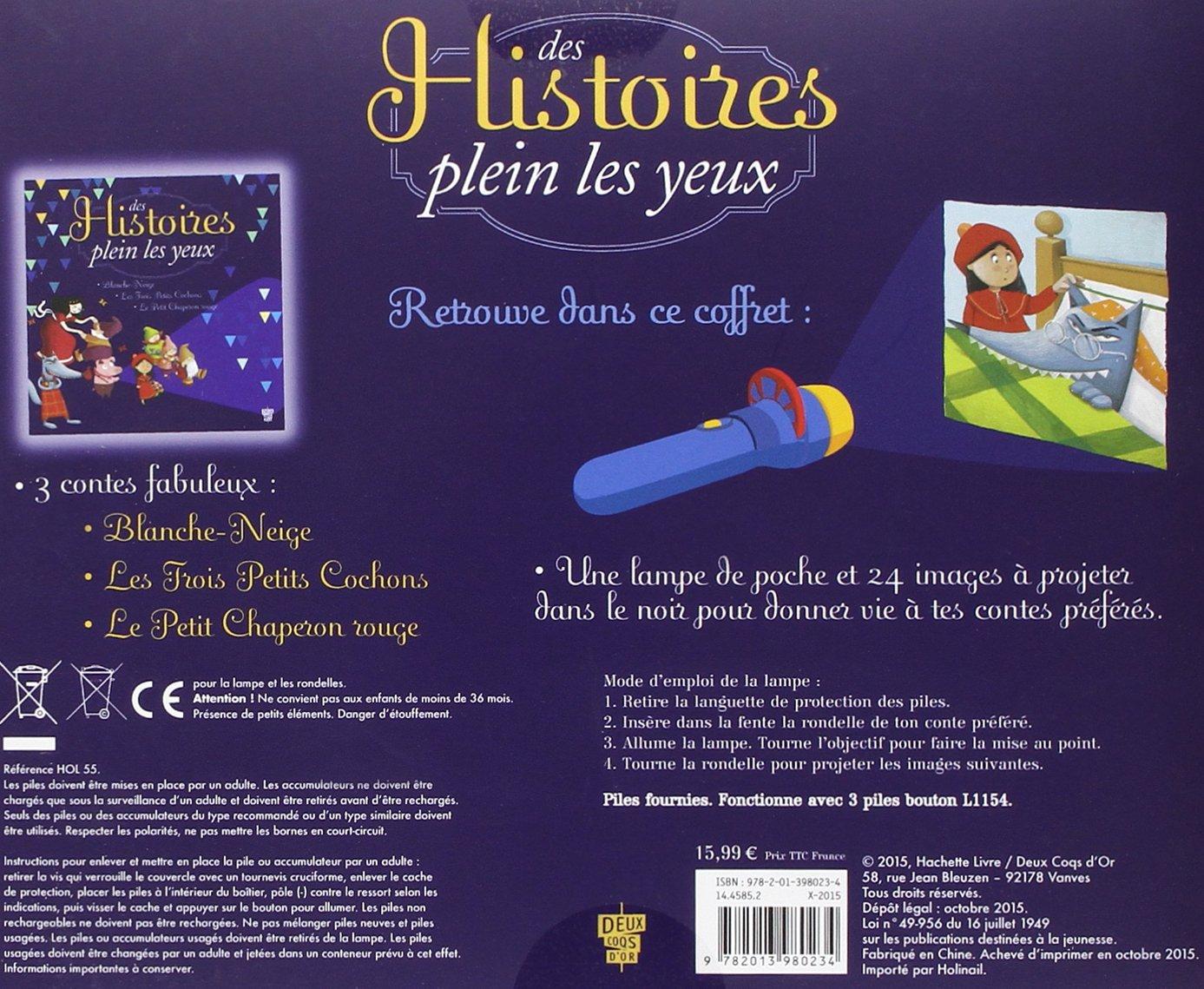 Amazon Fr Des Histoires Plein Les Yeux Coffret Avec Lampe De