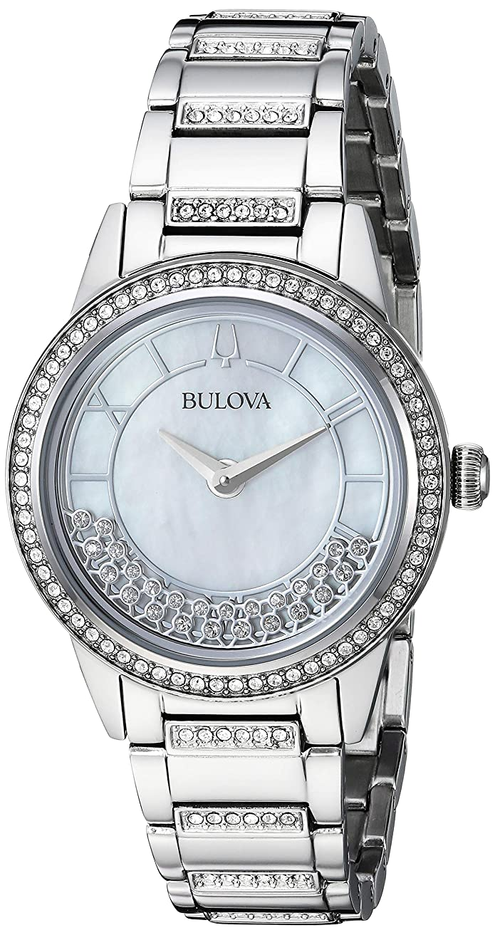Bulova Womens TurnStyle Crystal Accent with Mother of Pearl Dial Watch (96L257)