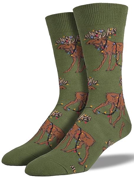 Socksmith - Calcetines para hombre, diseño de luz de Navidad, color verde: Amazon.es: Ropa y accesorios