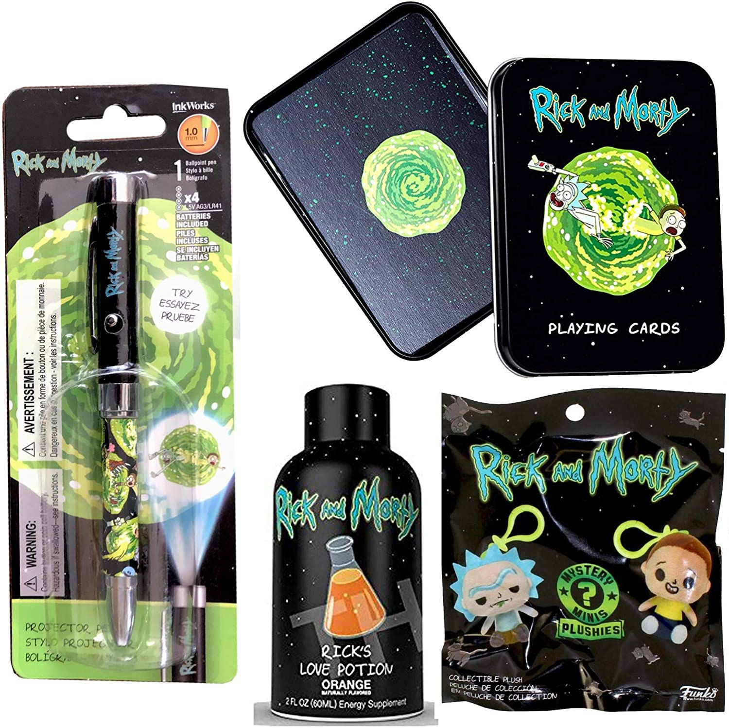 Amazon com: Game Card Tin Pickle Rick & Morty Character Pack