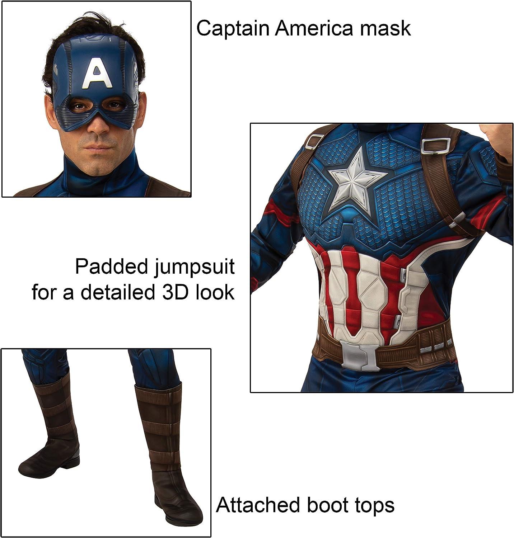 Amazon.com: Rubies Marvel: Disfraz de Capitán América de ...