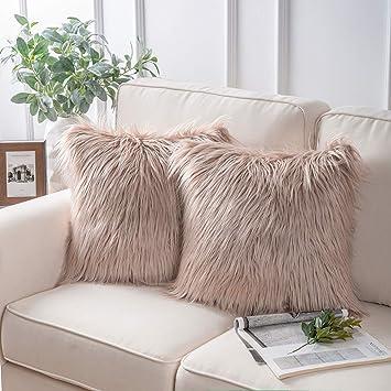 Amazon.com: Funda de cojín decorativa con diseño de piel de ...