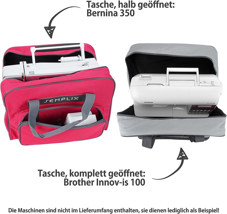 pink Semplix Nähmaschinentasche 45x34x24 cm stabile Transporttasche