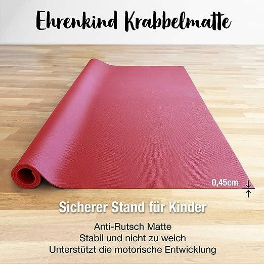 Ehrenkind/® Made in Germany Anti-Rutsch Krabbelmatte Oeko-Tex Matten Gr/ö/ße 120x170 cm VIOLETT