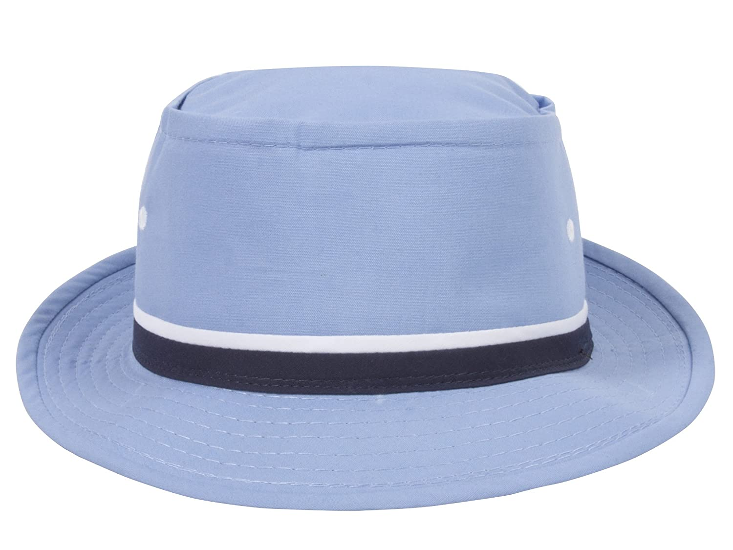 TOP HEADWEAR Packable Pork Pie Ribbon Bucket Hat