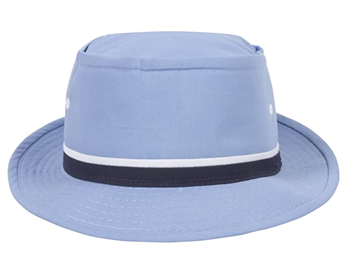 7996338e524 TOP HEADWEAR Packable Pork Pie Ribbon Bucket Hat - Light Blue - Medium