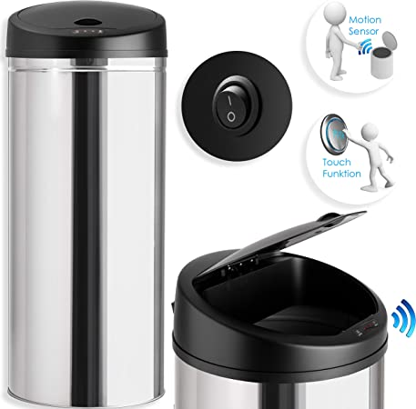 Gr/ö/ße: 40 L Edelstahl Kesser/® Sensor M/ülleimer ✓ Automatik ✓ Abfalleimer ✓ Abfall Farbe: Blau