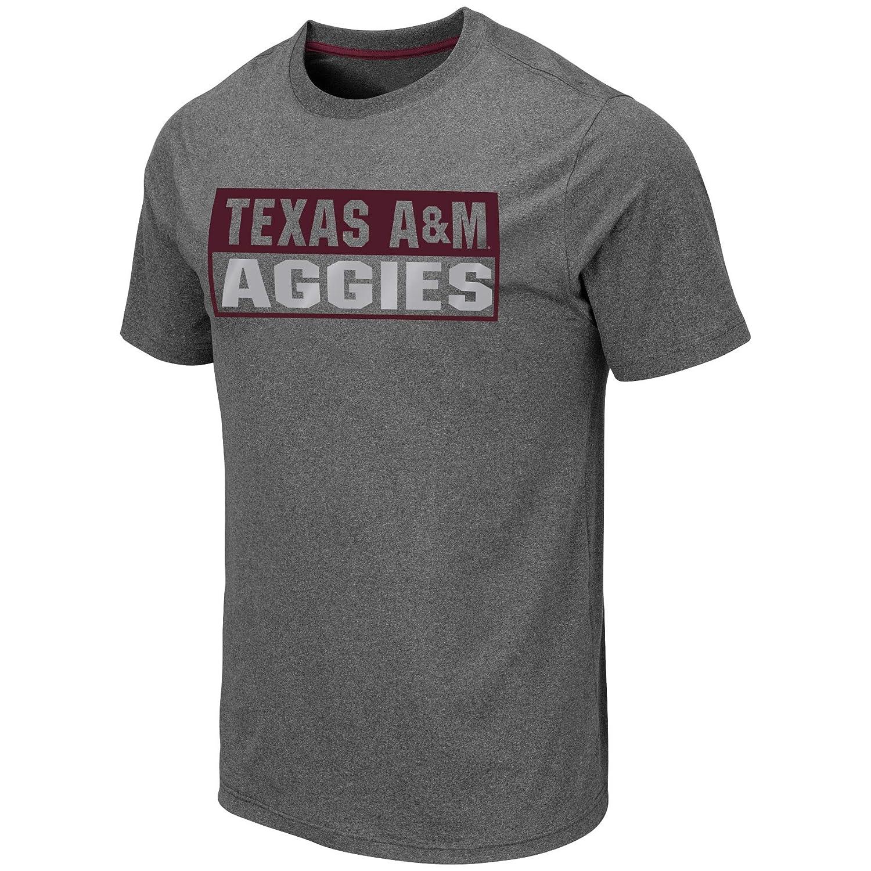 Tagless Mens Tech Tee-Charcoal Grey Colosseum Mens NCAA Athletic T Shirt