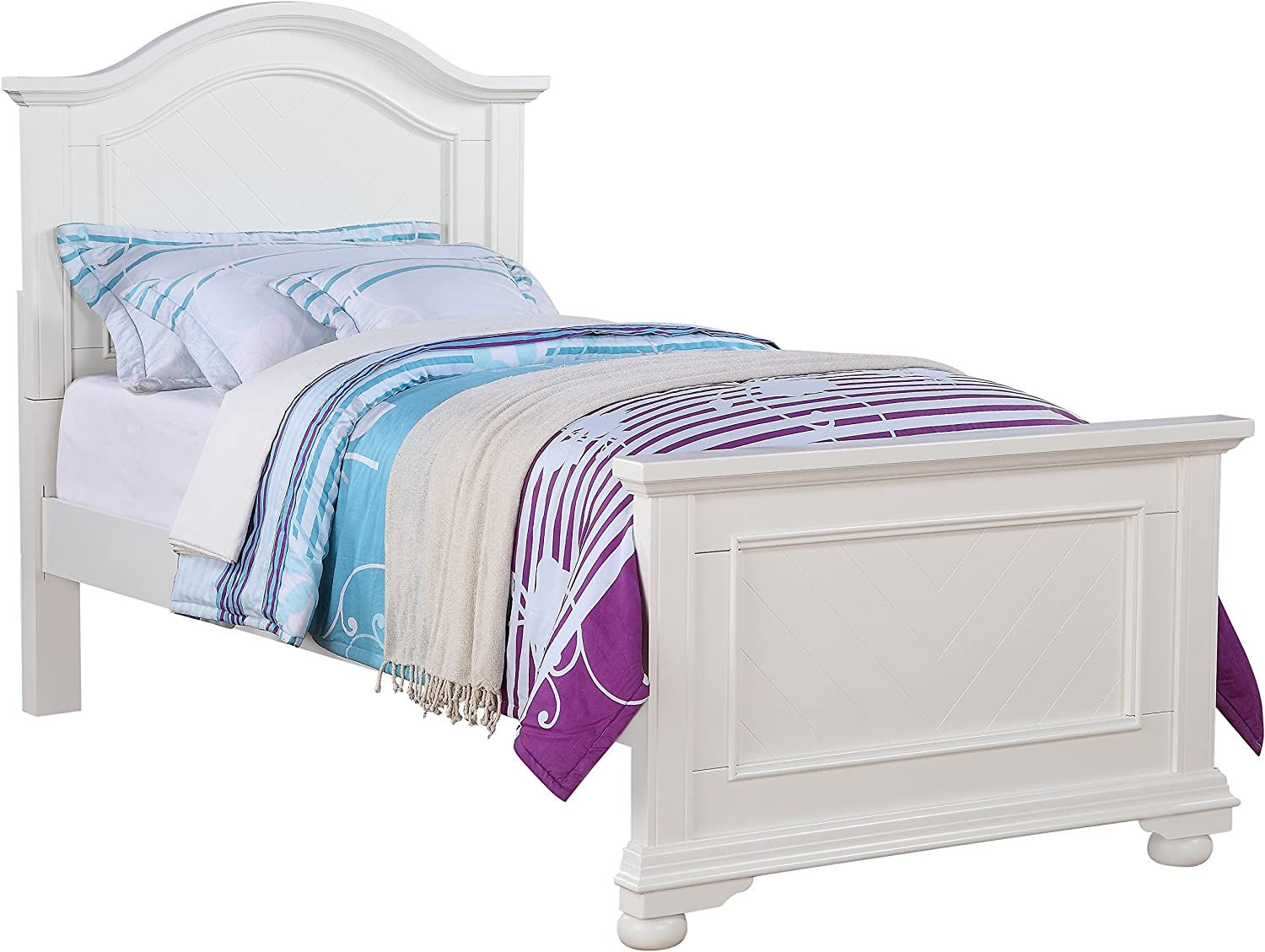 Abbey Avenue Leah Panel Bed, Twin, White