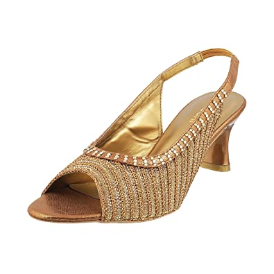 MOCHI Women ANTIC GOLD Synthetic Sandals ( SIZE EURO36/UK3 ) 35-3228-