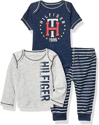 Choose SZ//Color Tommy Hilfiger Baby Boys 2 Pieces Cardigan /& Pants Set