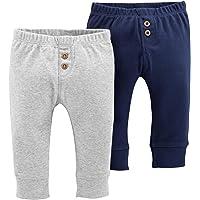 Carter's Baby Boys' 2-Pack Striped Pants Navy/Light Blue