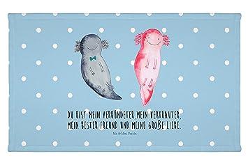 Handtuch Gästehandtuch Gäste Handtuch Axolotl Axel+lotte Handtücher