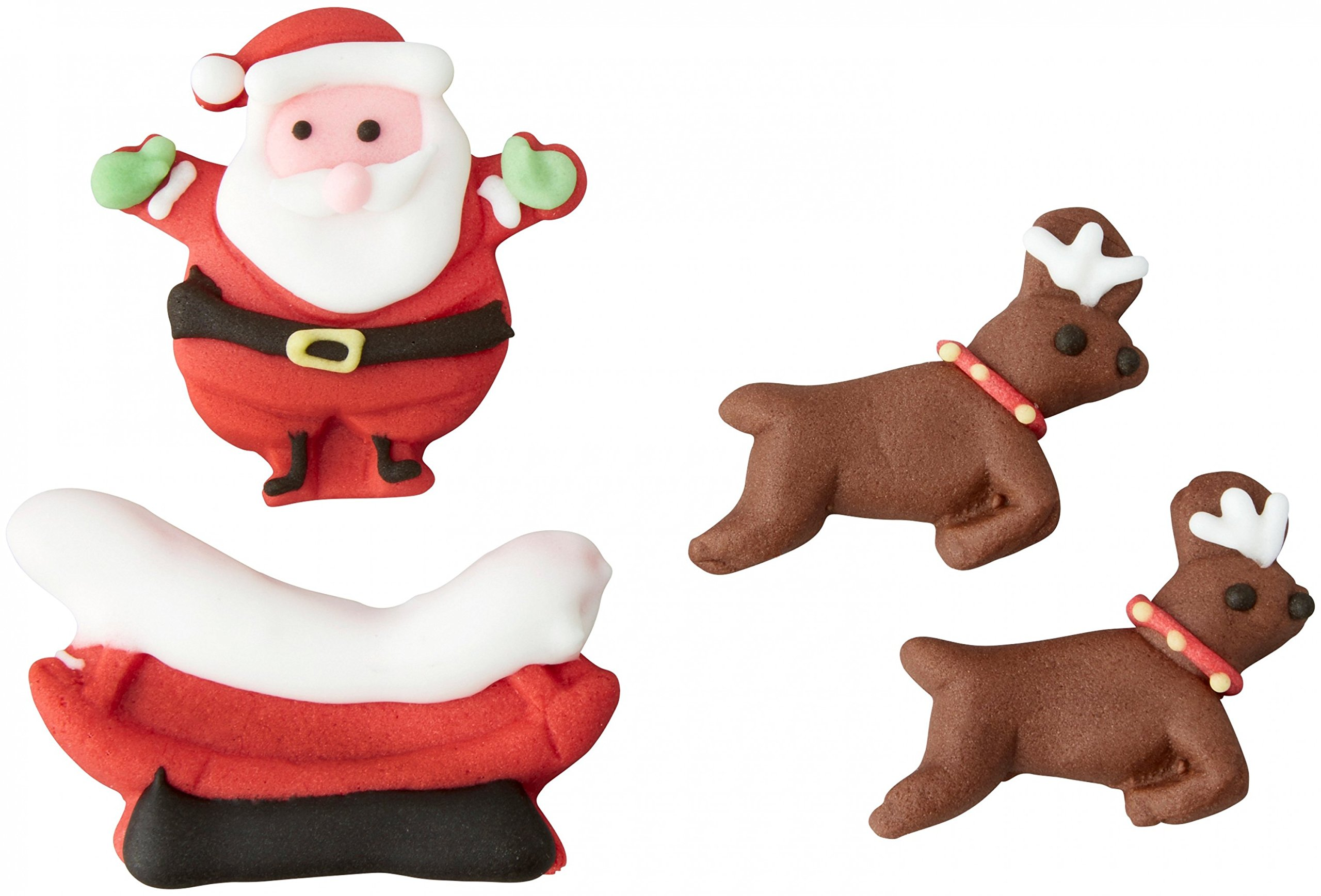 Wilton 710-5810 Santa and Reindeer Sleigh Candy Decorations
