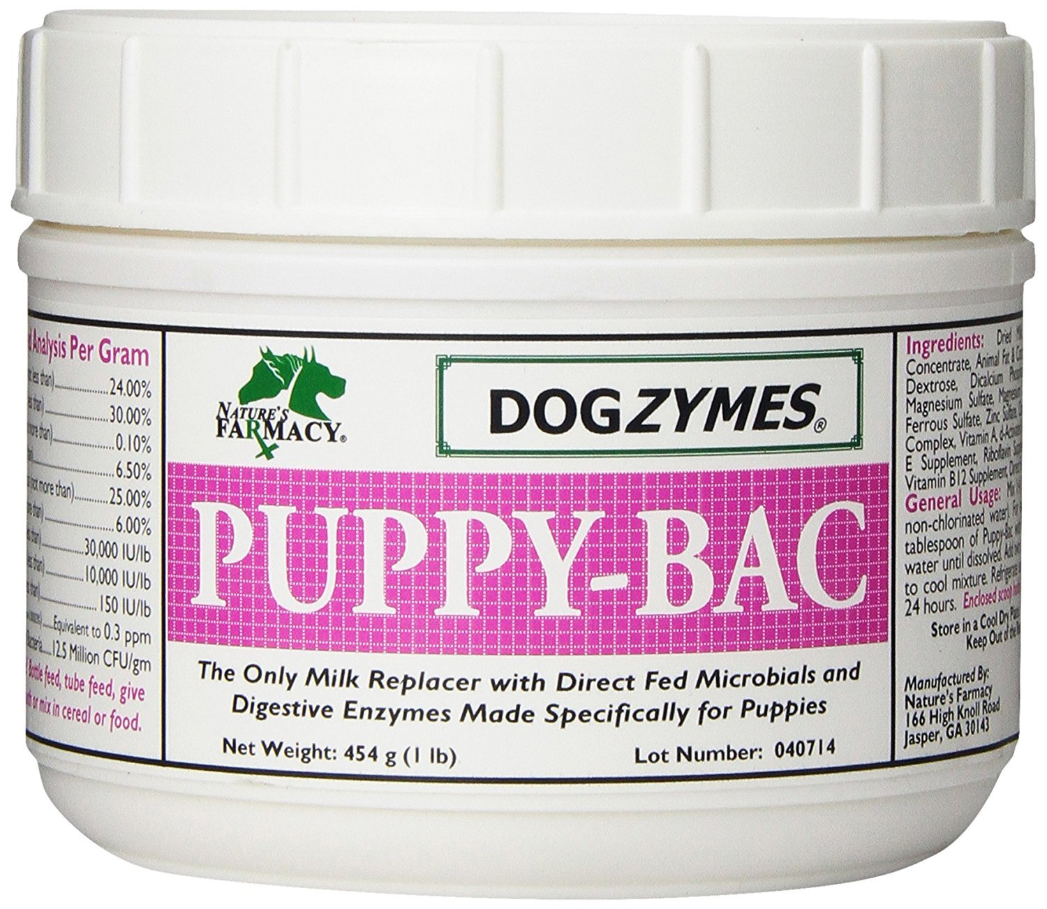 DOGZYMES Puppy Bac Milk Replacer, 1-Pound by Dogzymes