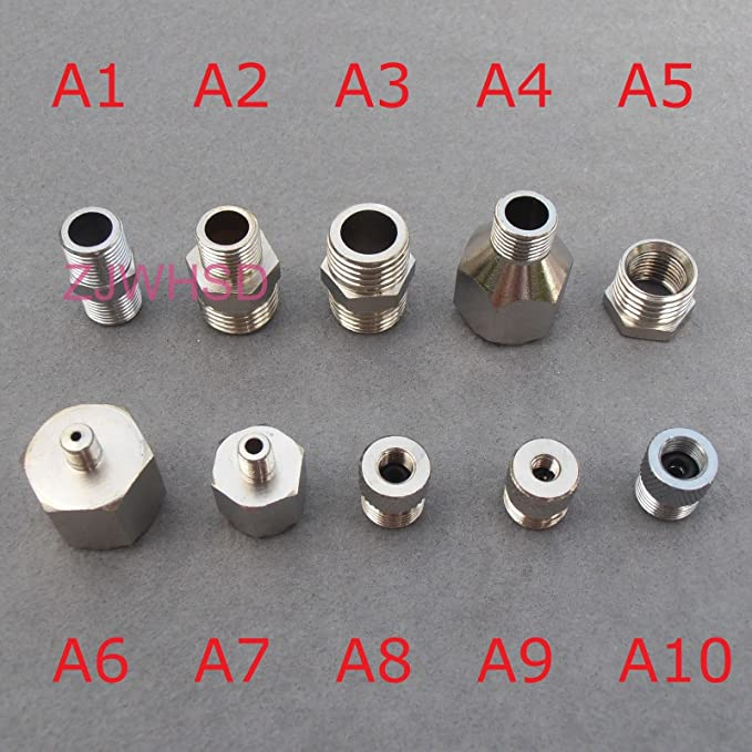 2020 New 9pcs Universal Airbrush Adaptor Kit Fitting Connector Set Y1L9