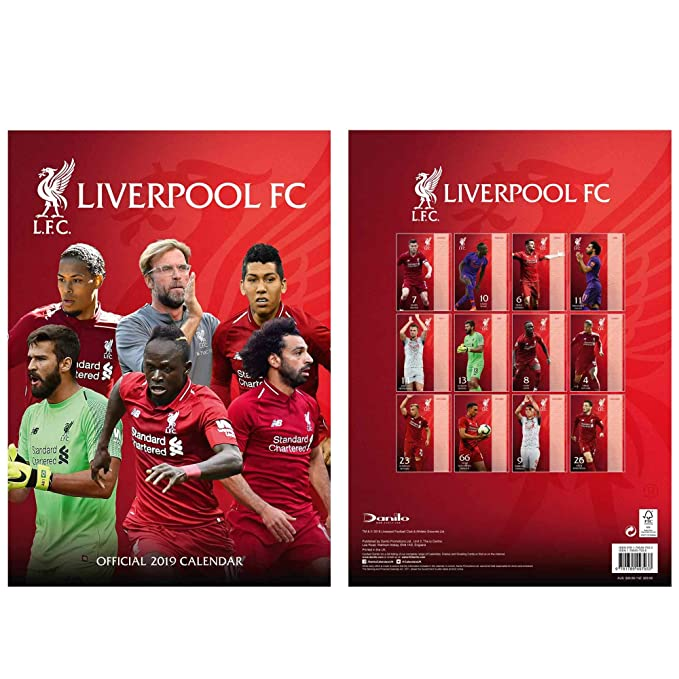 c56630b8d Official Liverpool FC (Premier League) 2019 Soccer Calendar  Amazon.co.uk   Sports   Outdoors