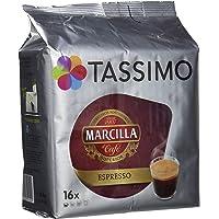 Tassimo Marcilla, Cápsulas de café (Espresso) - Pack de 5 x 16 cápsulas (Total 80 cápsulas)