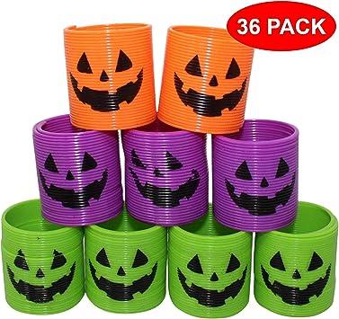 THE TWIDDLERS 36 Mini Muelles Mágicos de Halloween - 4 Estilos de ...