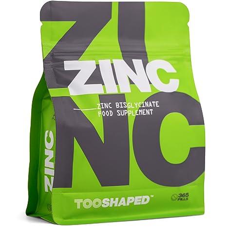 Comprimidos de zinc (bisglicinato). 25 mg (dosis alta). Máxima biodisponibilidad