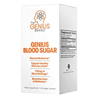 Genius Blood Sugar Support Capsules - Super Berberine Extract w/Organic Cassia Cinnamon...