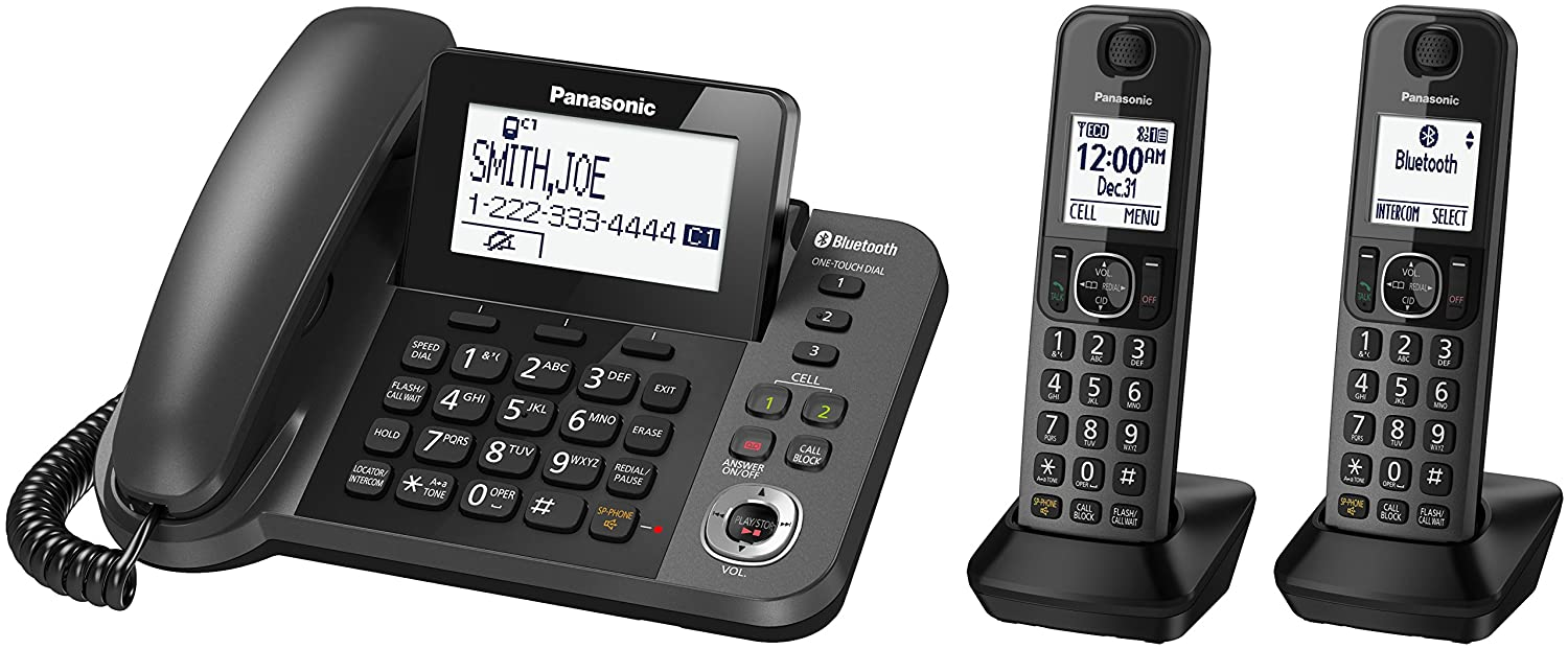 A House Phone Home Phones Way To Stay Connected At Home Amazon.com : Panasonic Bluetooth Corded-cordless Phone System With  Answering Machine, Enhanced Noise Reduction And One-touch Call Block - 2  Handsets ...