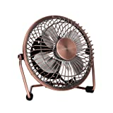Amazon Price History for:Glamouric Mini Metal Table Fan - USB Powered Quiet Desk Fan Retro Design with on/off Switch Free Angle Rotation Personal Air Circulator for Work Home School Travel (Bronze)