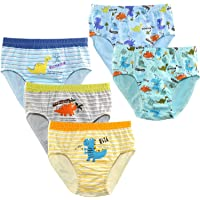 Rswsp Pack of 5 Little Kids Toddler Boys' Cotton Underwear Soft Briefs 2T-5T