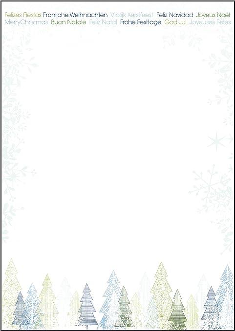 Sigel Dp090 Papier A Lettre De Noel Foret De Sapins 21 X 29 7 Cm