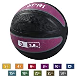 SPRI Xerball Medicine Ball Thick Walled Durable Construction with Textured Surface, Rosewood, 8-Pound