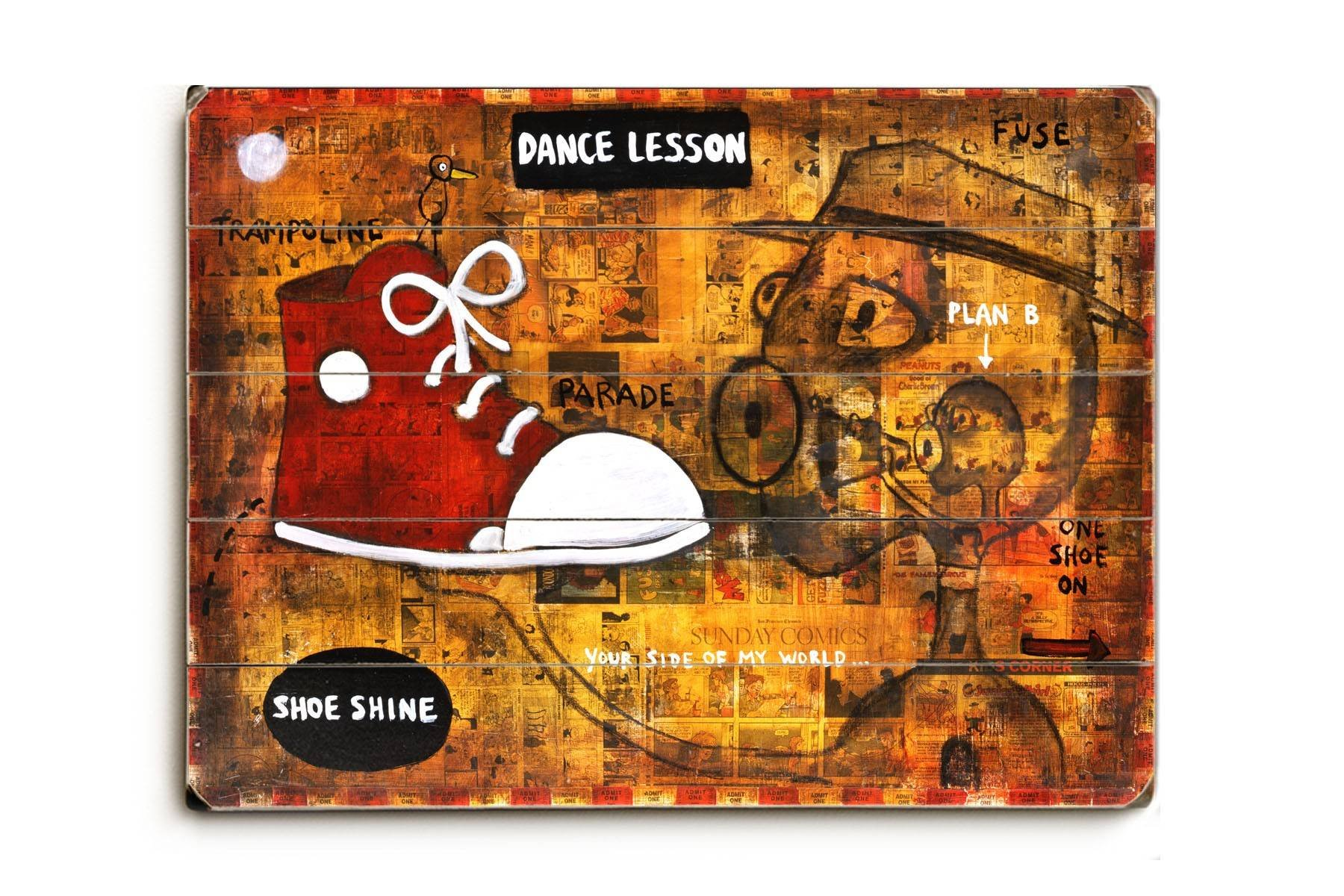 Dance Lesson Wood Sign 25x34 (64cm x 87cm) Planked