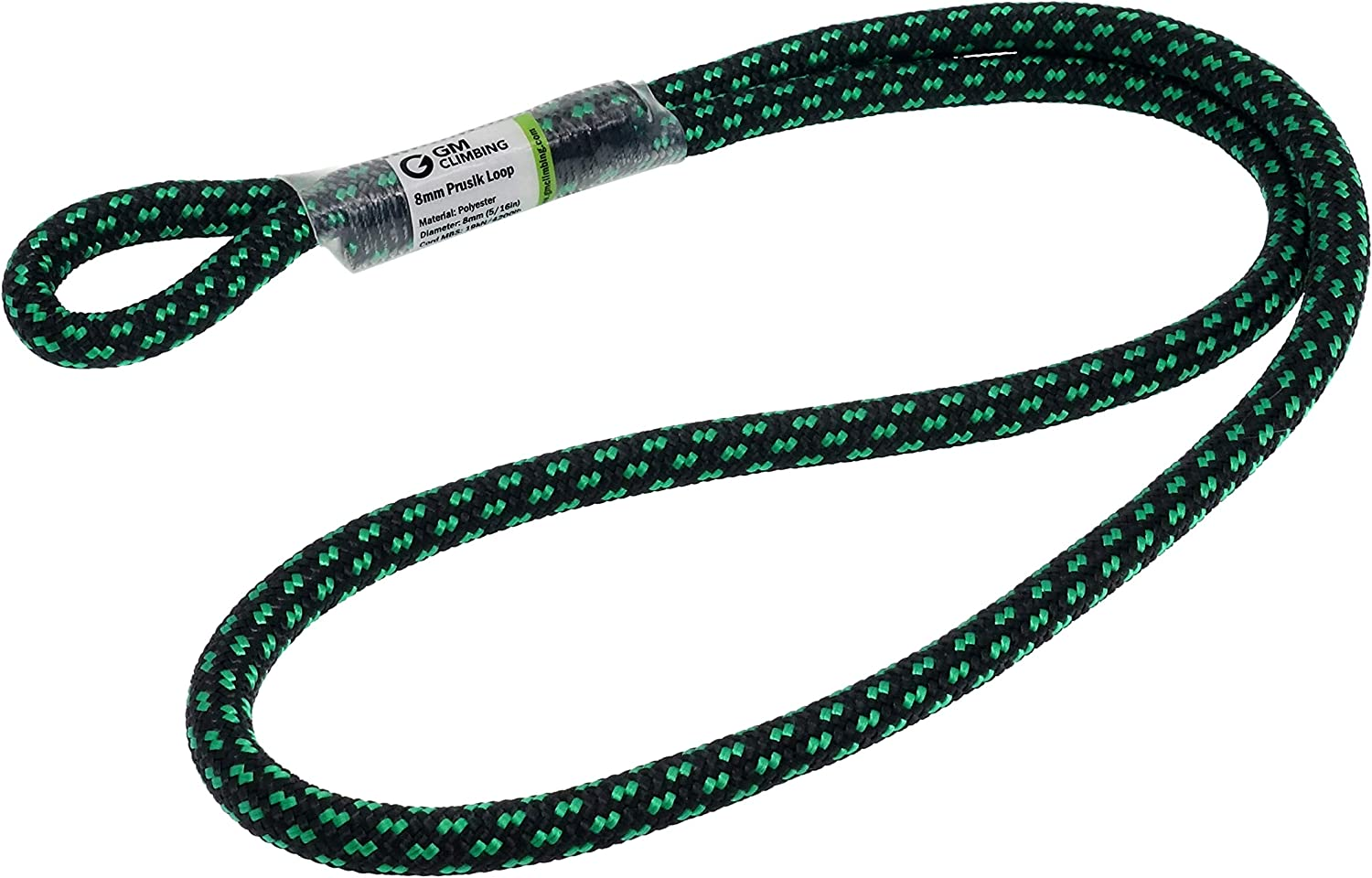 "GM CLIMBING 8mm (5/16"") Prusik Loop Pre-Sewn 18 inches : Sports & Outdoors"