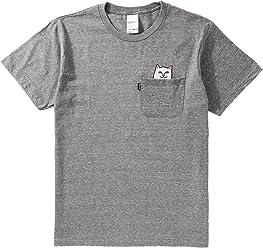 RIPNDIP Lord Nermal Pocket T-Shirt - Heather Grey