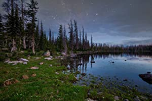Utah Nature Photography 24X36 Inch Nature Art Print Four Lakes Basin Stars at Night Unframed Print | Professionally Produced Wall Poster Direct from The Artist