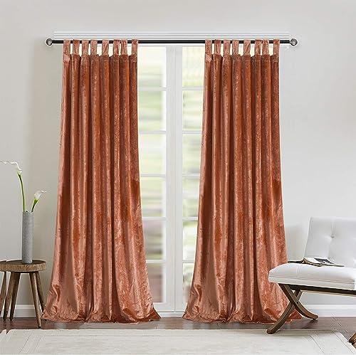 Hicksville Terracotta Velvet Curtains Review
