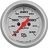 Auto Meter 4356 Ultra-Lite 2-1/16' 100- 340 F Full Sweep Electric Oil Temperature Gauge